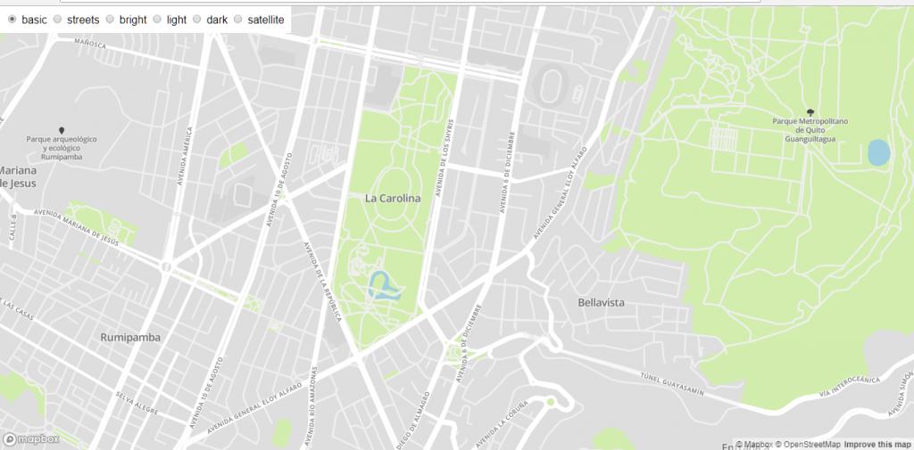 Mapbox - Quito streets